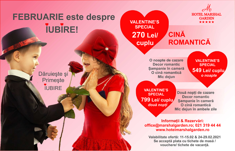 Valentine's Day si Dragobete la Hotel Marshal Garden 2021
